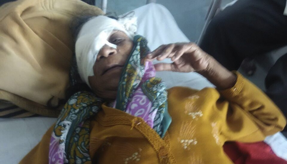Woman attacked by Marathas in Nashik